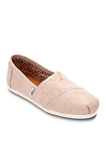 Natural Metallic Burlap Alpargata Shoes