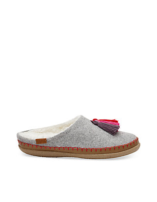 0f97a3f0bec Drizzle Gray Wool Women's Ivy Slippers