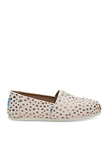 Alpargata Rose Gold Dot Shoe