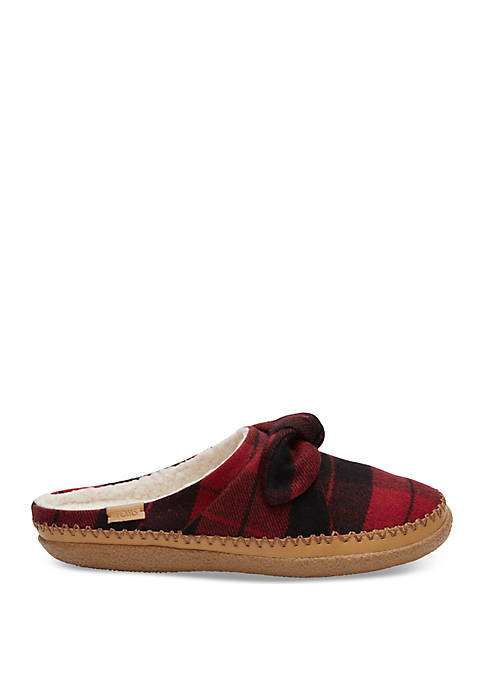 TOMS® Red Plaid Ivy Slipper