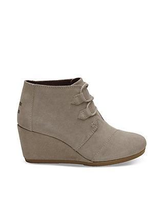 3dec99904e58 TOMS® Desert Taupe Suede Women s Kala Booties