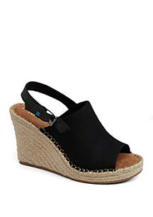 9a26df2f7ee TOMS® Carmel Sneakers · TOMS® Black Canvas Monica Wedges