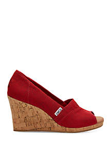 26453c805d96 ... TOMS® Red Crosshatch Classic Wedge Sandals