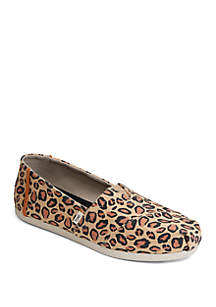 TOMS® Leopard Classics Slip On Shoes