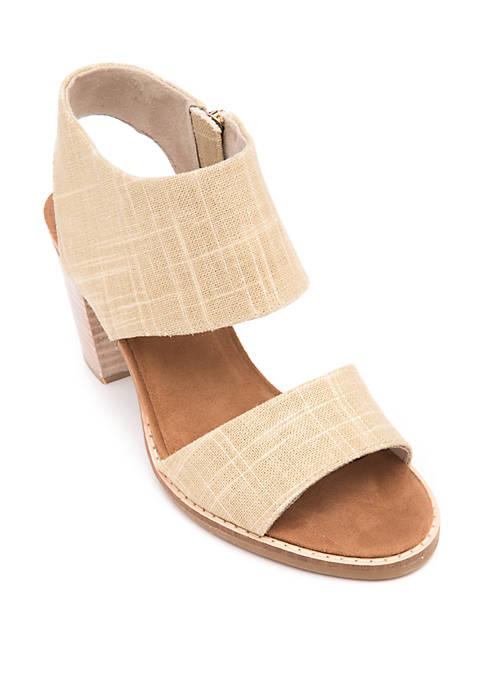 Majorica Cutout Heeled Sandals