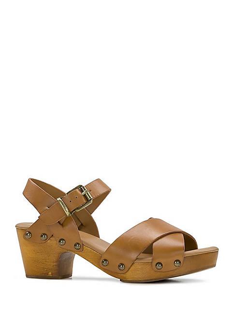 Gigi Wood Bottom Sandals