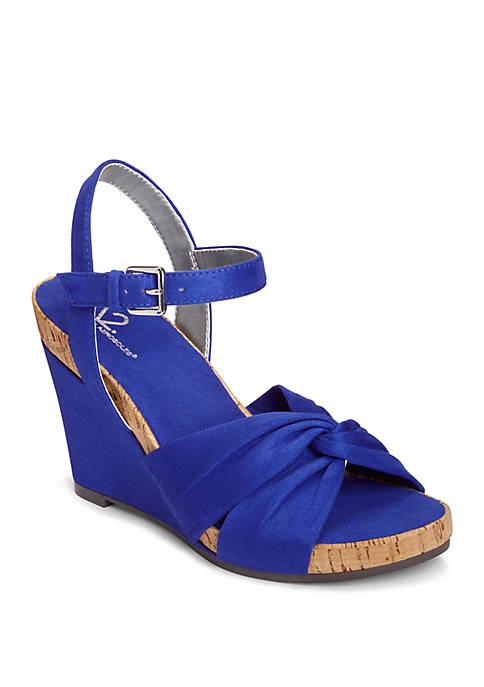 A2 by Aerosoles Coral Plush Twist Wedge Sandals