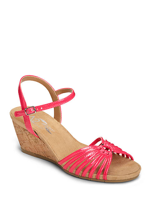 A2 by Aerosoles Fruit Cake Strappy Wedge Sandals