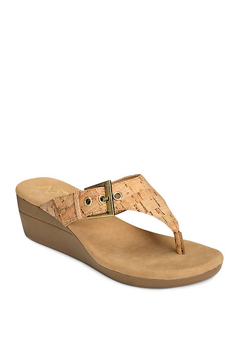 A2 by Aerosoles Work Flow Buckle Thong Wedge