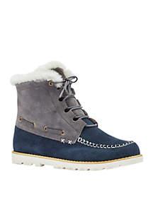 Meru Sheepskin Collar Boot