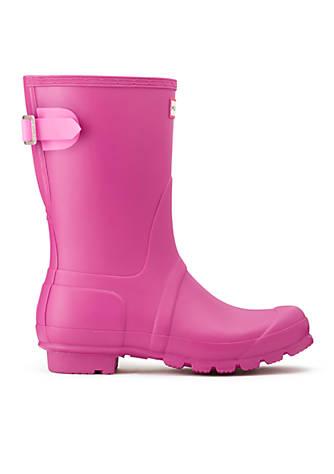 Womens Hunter Original Back Adjustable Short Purple Rain Shoes Z95194
