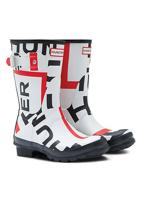Hunter Exploded Logo Rain Boots