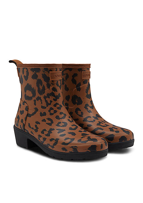 Hunter Refined Hybrid Print Ankle Rain Boot