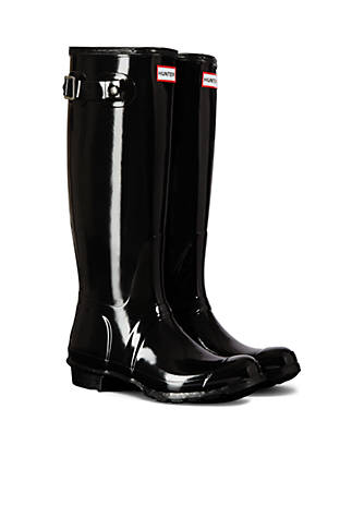 Hunter Women's Original Tall Gloss Rain Boots 1PhPu6O9G