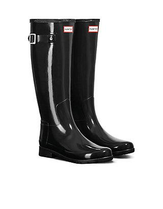 77fc0a36c84 Hunter Refined Gloss Rain Boots
