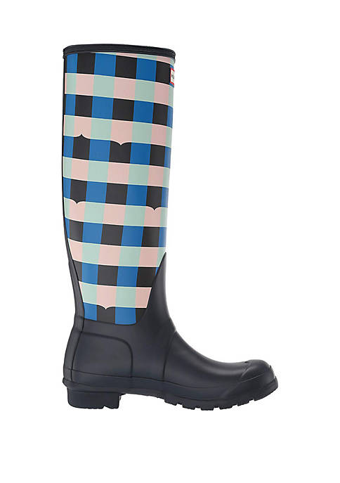 Original Tall Gingham Rain Boots