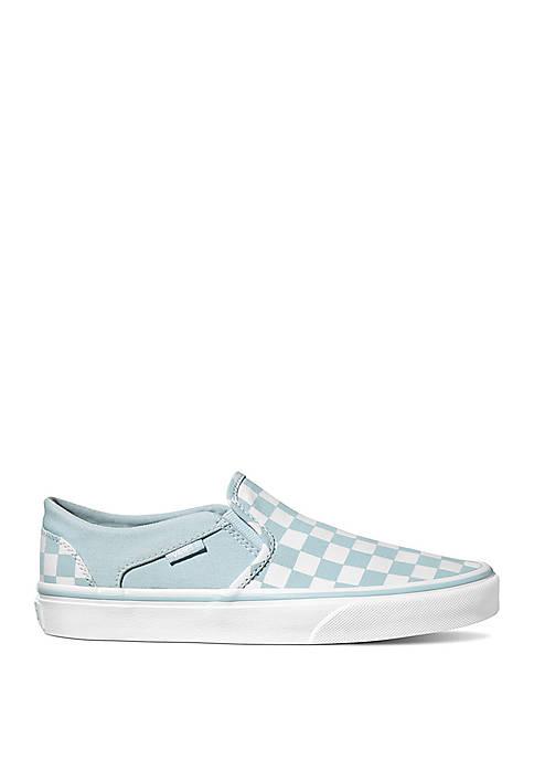 Asher Blue Checkered Slip On Sneaker
