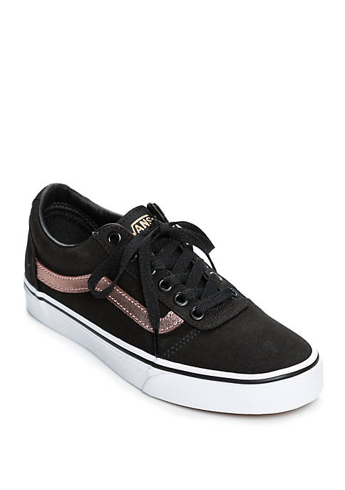 Vans 174 Ward Sneaker In Black And Rose Gold Belk
