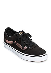 Ward Sneaker in Black and Rose Gold