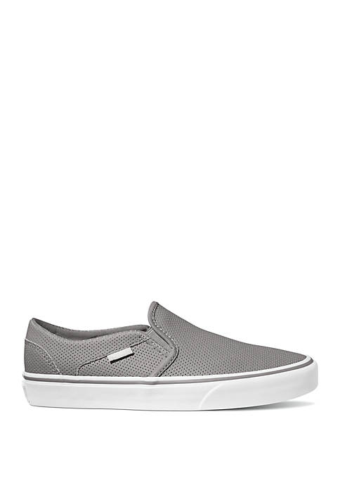 Asher Perforated Slip On Sneakers