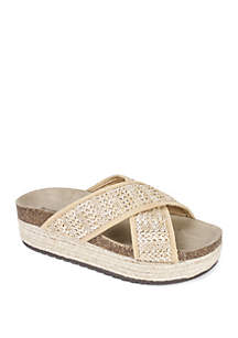Seven Dials Bradlie Cross Band Espadrille Sandals