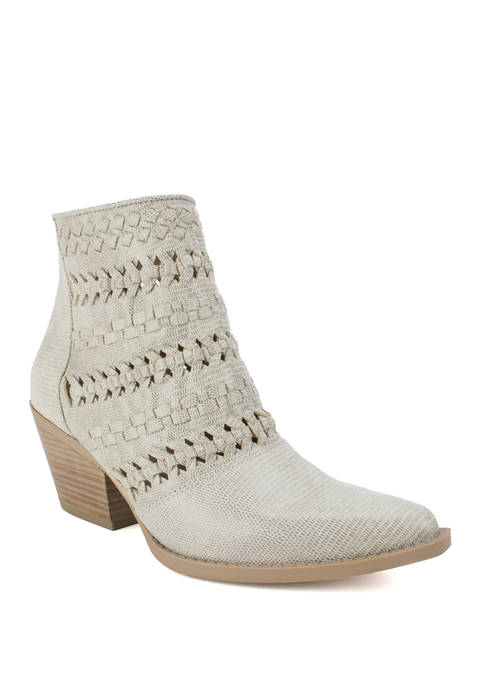 Quinn Western Style Braided Detail Booties
