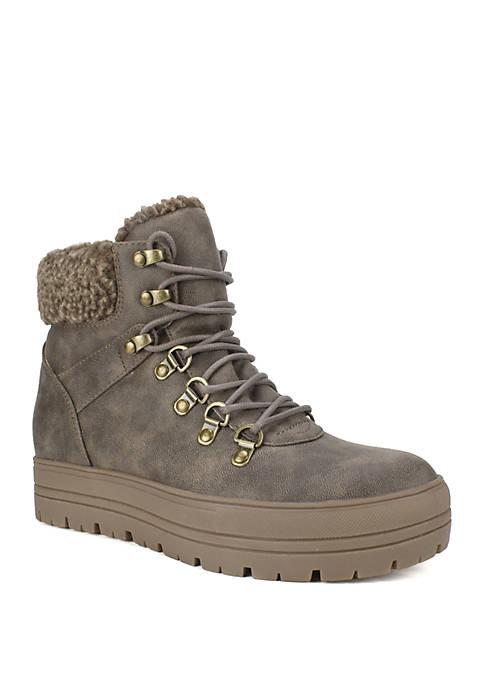 Zenna Platform Sole Lace Up Hiker Boots