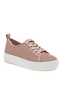 Artsy Woven Laceup Sneakers