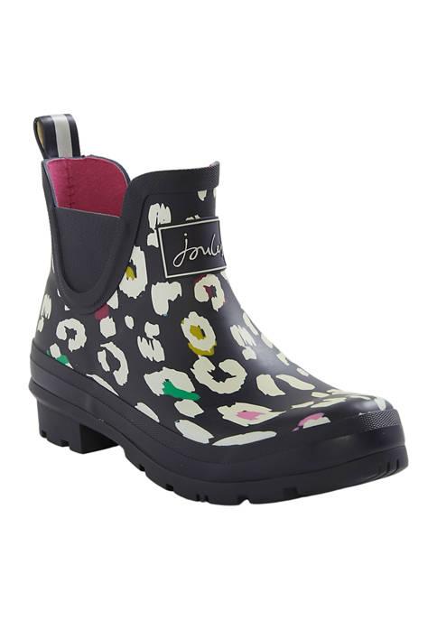 Joules Wellibobs Navy Leopard Rain Boots