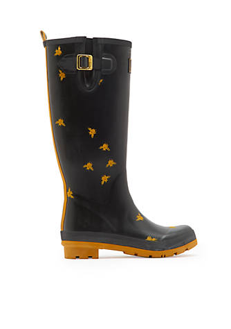 Joules Tall Printed Welly Rain Boot jkKZBCgR
