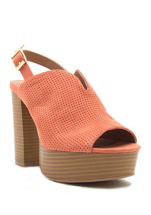 Banbi Perforated Slingback Sandals