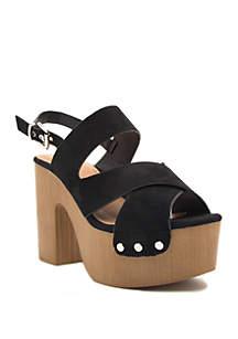 Qupid® Boost Criss Cross Slingback Sandals