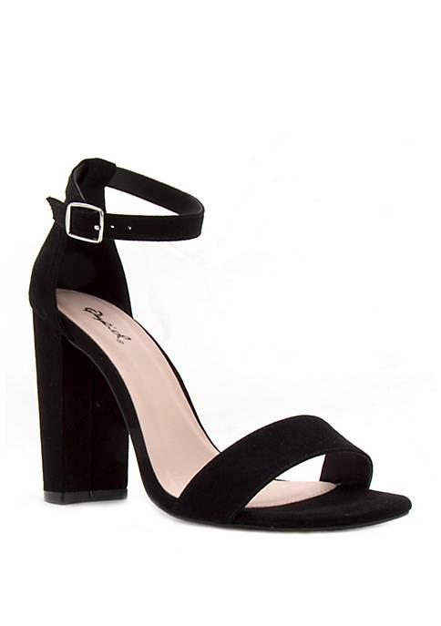 Cashmere Block Heel Sandals