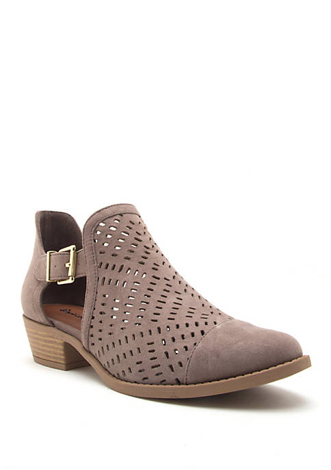 Qupid® Sochi 181 Perforated Bootie