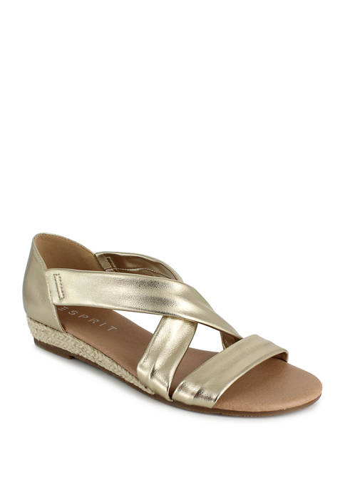 Cassie Criss Cross Flat Sandals