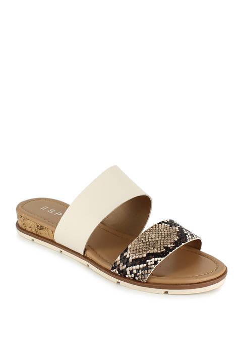 Dansel Double Band Slide Sandals