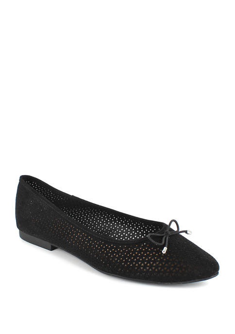 Patti Pointed Toe Perf Flats
