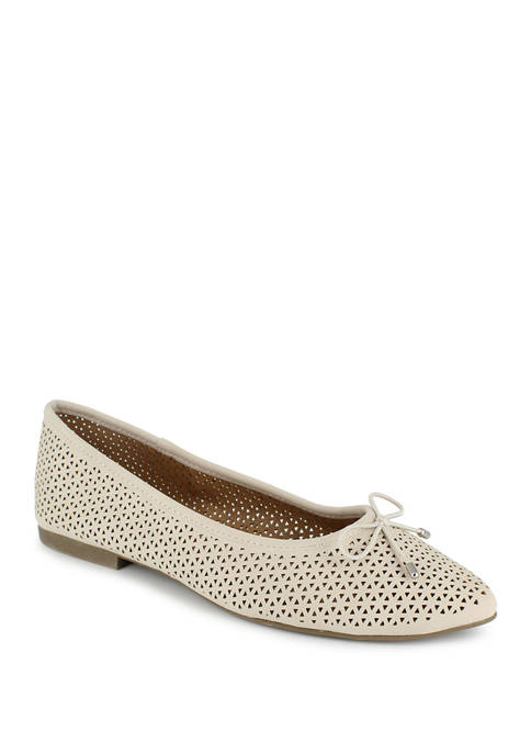 Patti Pointed Toe Perforated Flats