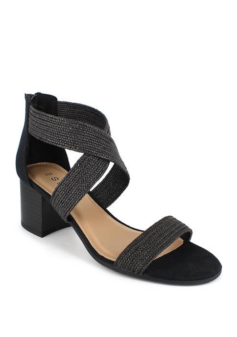 Tianna Criss Cross Block Heels