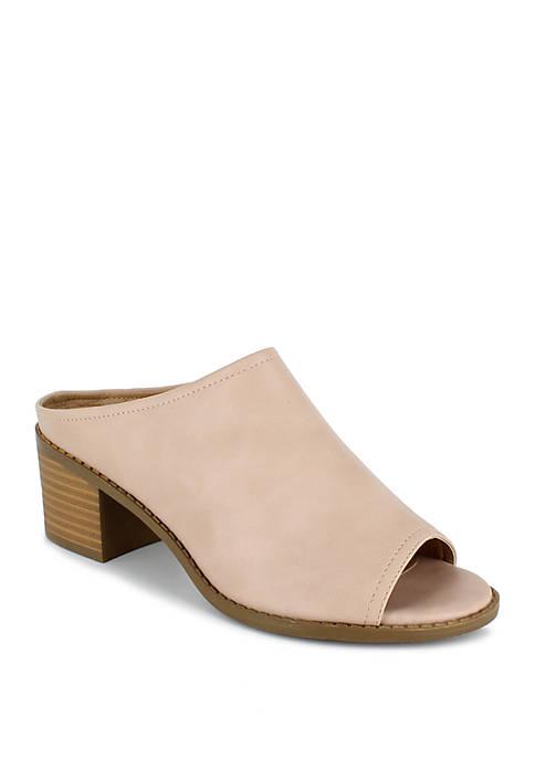 Lena Block Heel Mules