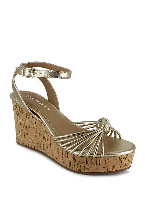 Vivianne Cork Wedge Sandals