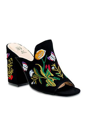 G.C. Shoes July Floral Print Block Heel Peep Toe Sandal MMn2tM