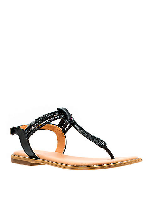 G.C. Shoes Lia Embellished Thong Sandal