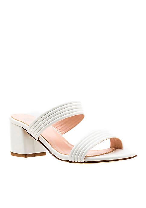 G.C. Shoes Liz Double Strap Block Heel Sandal