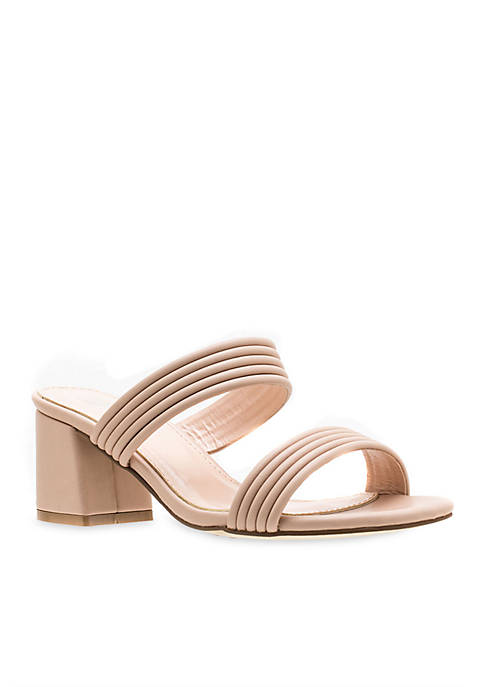 G.C. Shoes Liz Double Strap Block Heel Sandal