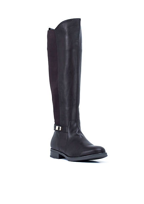 G.C. Shoes Macey Elastic Detail Riding Boot