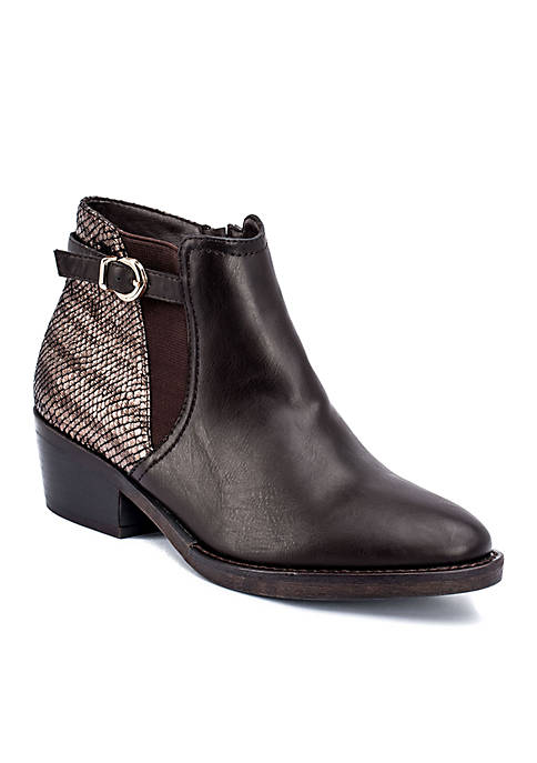 G.C. Shoes Margo Snake Detail Ankle Boot