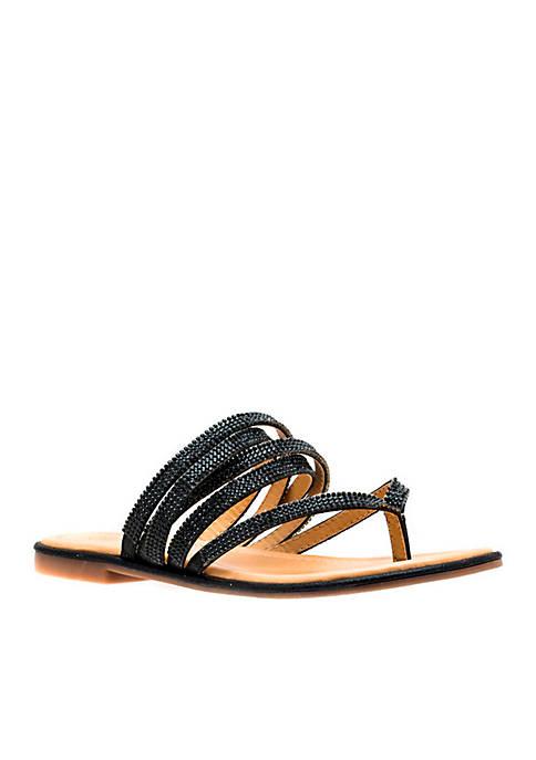 Naomi Embellished Thong Sandal