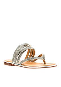 G.C. Shoes Naomi Embellished Thong Sandal