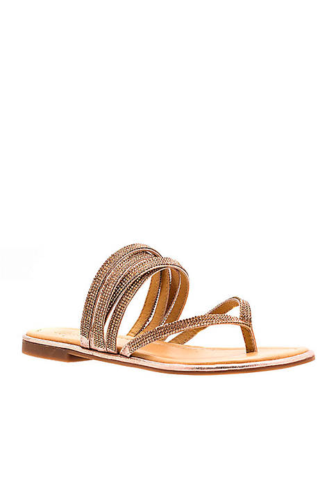 G.C. Shoes Naomi Embellished Thong Sandal